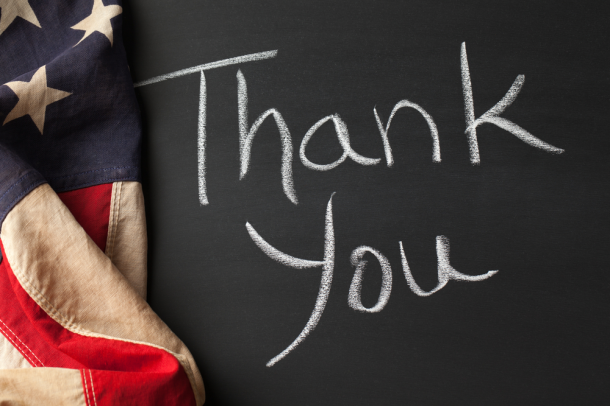 Thank You Veterans for Your Service and Your Sacrifice
